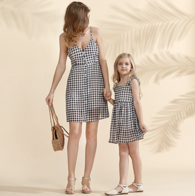 mommy and me matching gingham dresses