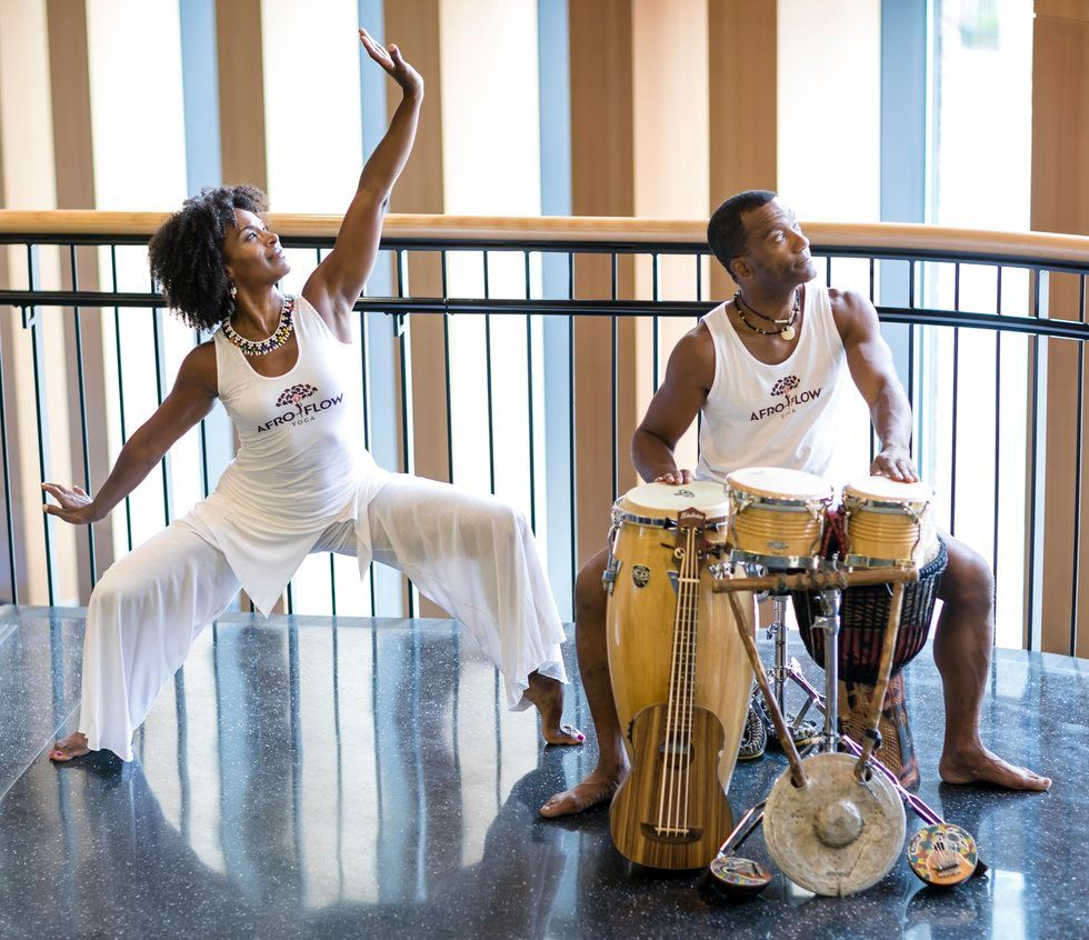Leslie Salmon-Jones and Jeff Jones of Afro Flow Yoga