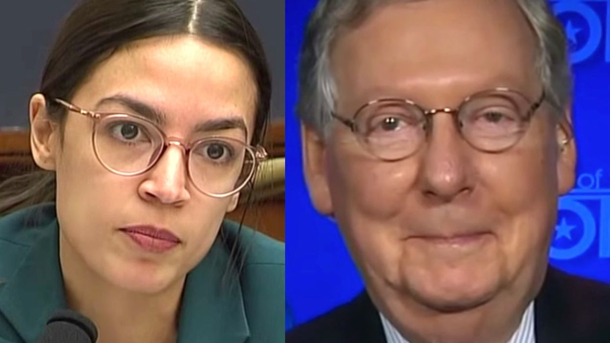 Mitch McConnell mocks Ocasio-Cortez after Green New Deal fails to garner a single vote from Democrats