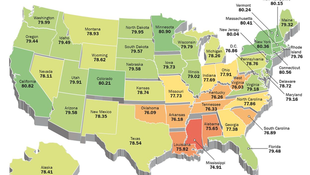 Where you live in America determines when you'll die