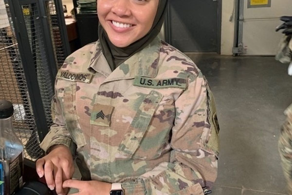 Soldier suing the Army says she was forced to remove hijab