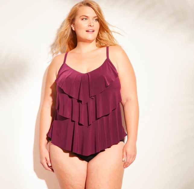 9018ff48aec29 My holy grail swimsuit: aka the plus size tiered tankini from Target