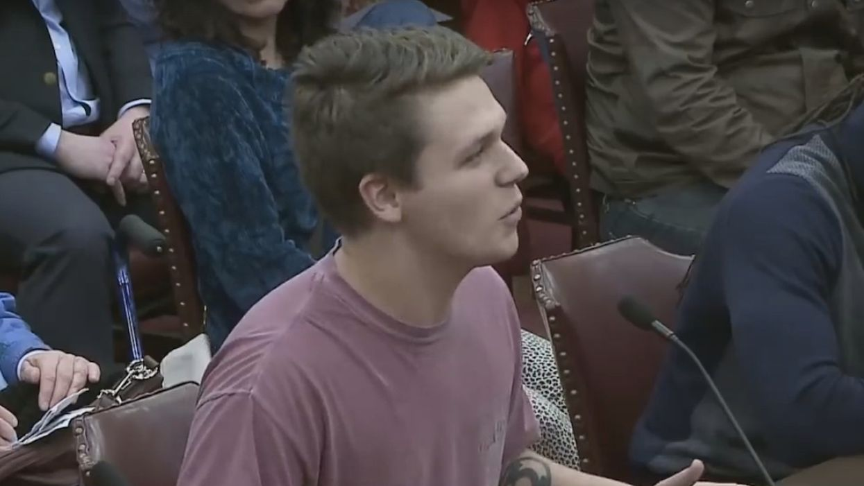 Watch this guy boldly speak the truth about abortion in front of state lawmakers