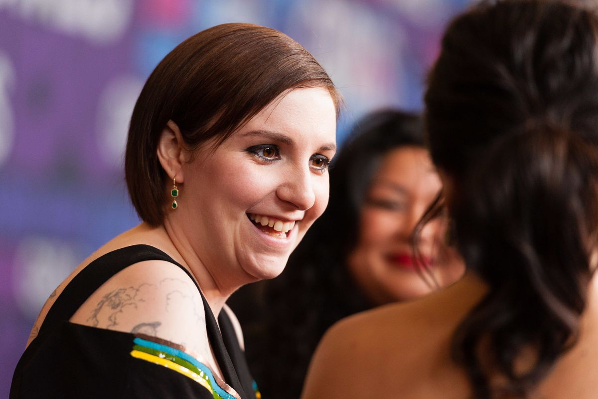 Lena Dunham Debuts 'Sick' Neck Tattoo