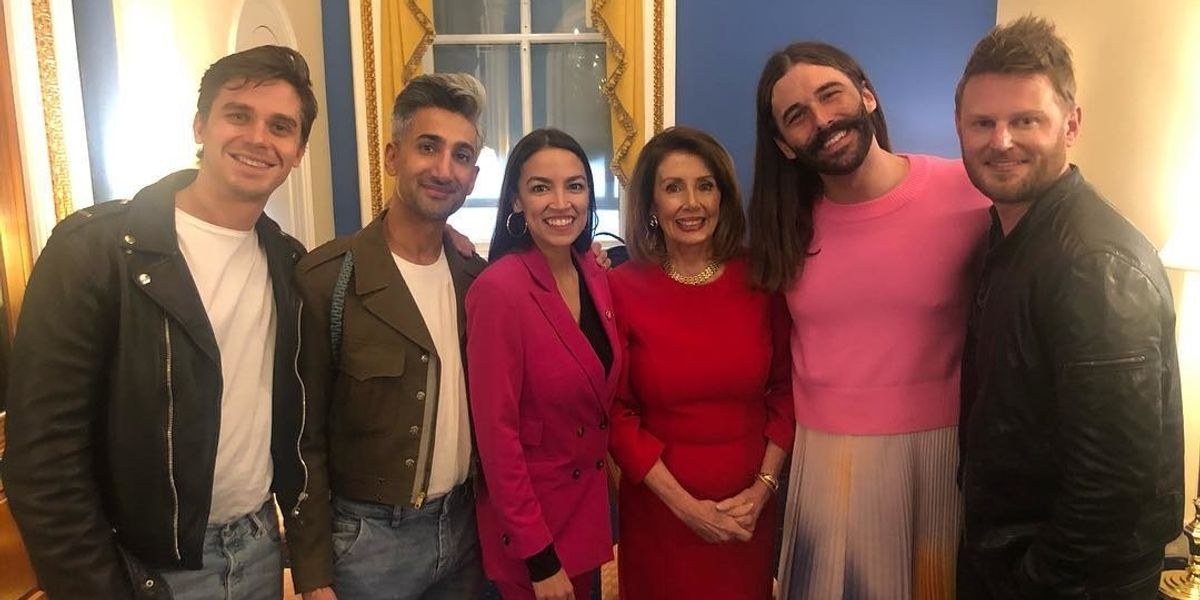 The 'Queer Eye' Cast Hangs With AOC in DC