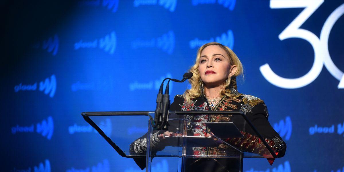 Madonna Delivers Emotional Speech at GLAAD Media Awards