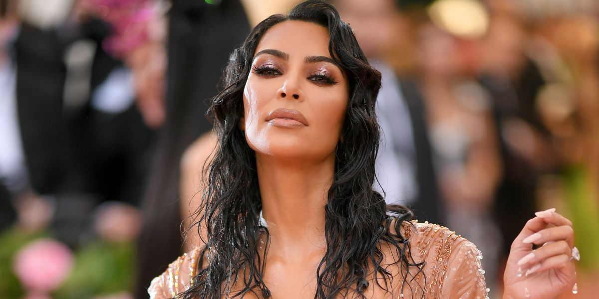 Kim Kardashian Looks Dripping Wet in Custom Mugler