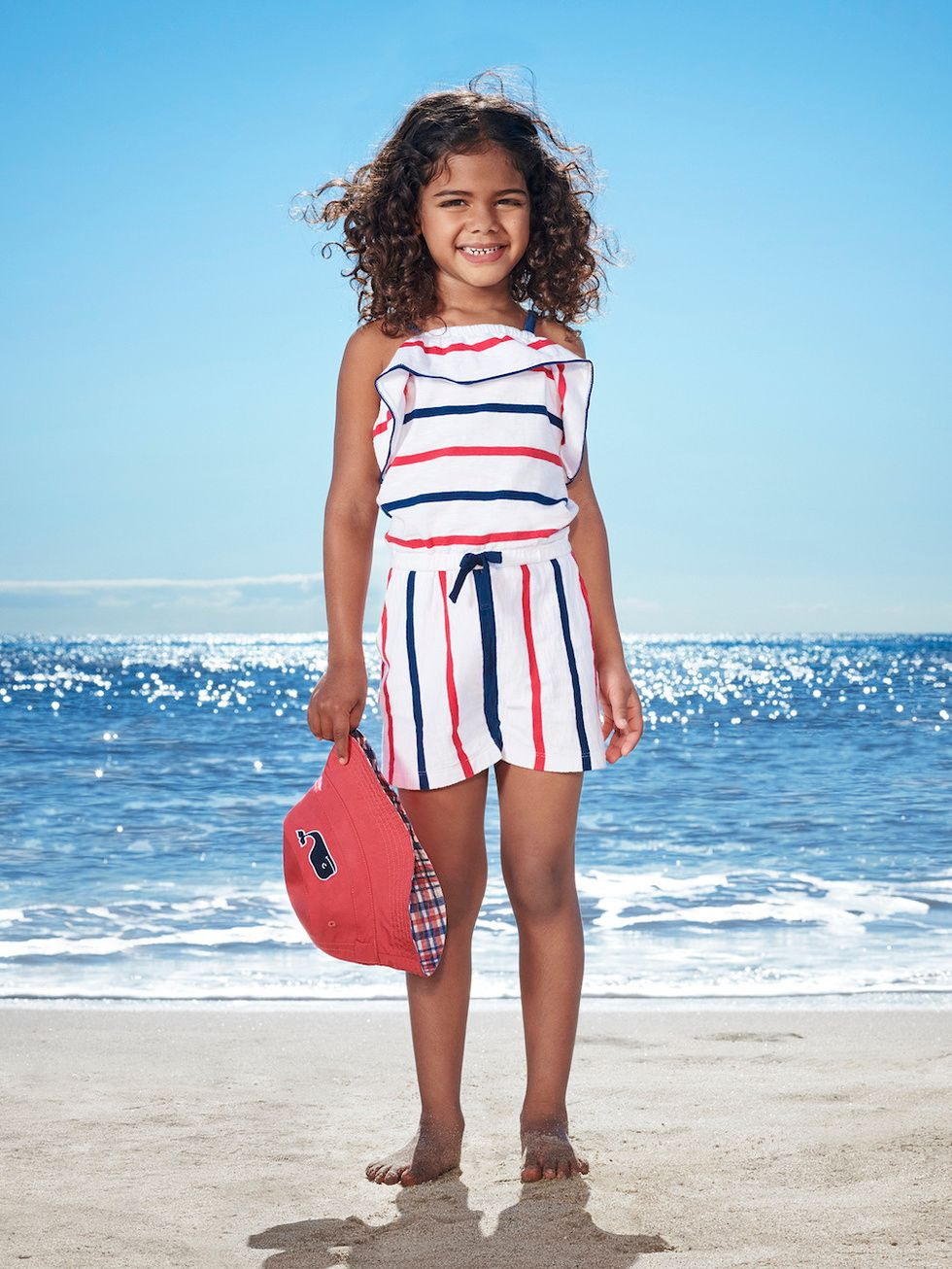 Vineyard Vines for Target Girls' Striped Scoop Neck Romper