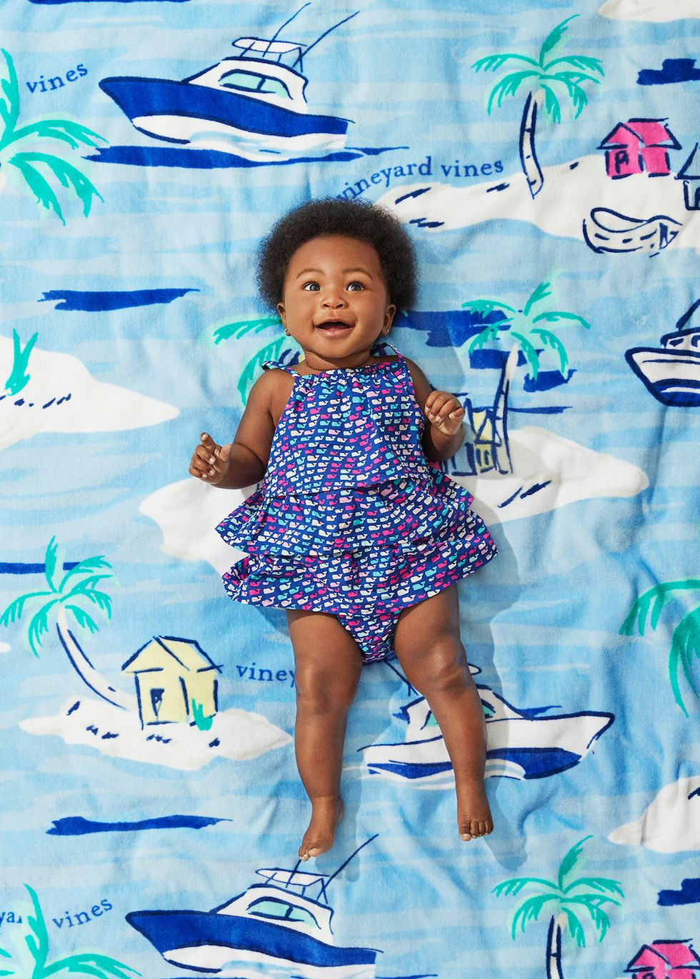 c71f39f0a4 Vineyard Vines for Target Baby Ruffle School of Whales Sleeveless Bodysuit
