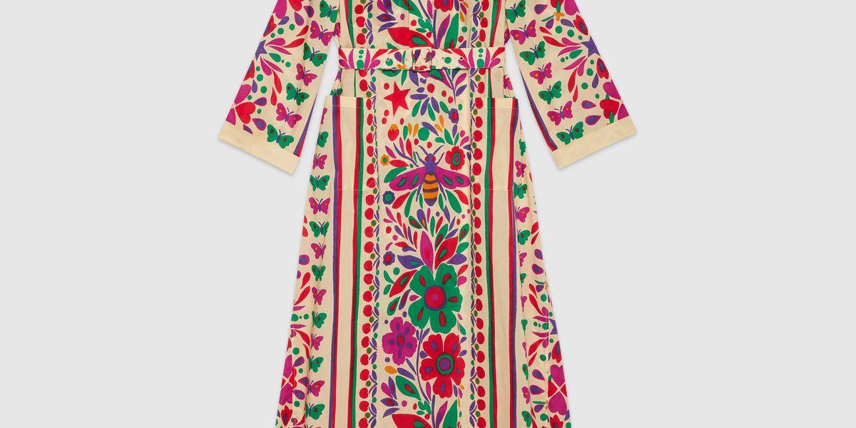 Dress with Star Garden Print