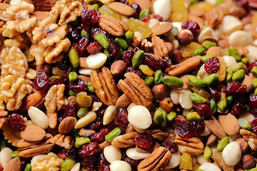 closeup of trail mix