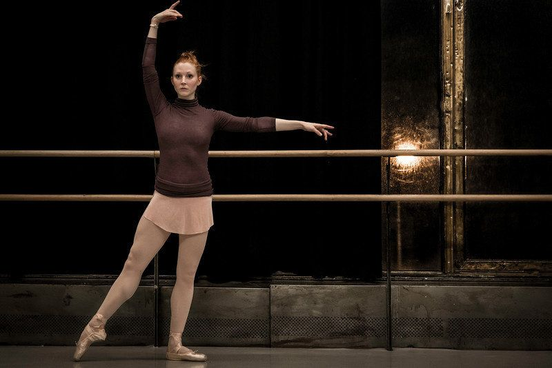 Abigail Mentzer wearing one of her skirts, in tendu