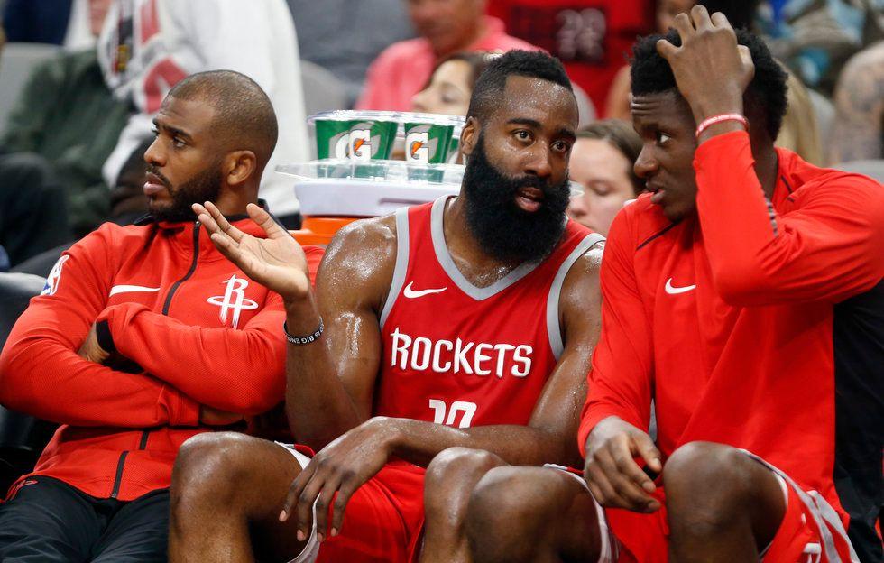 Rockets Chris Paul , James Harden, Clint Capela