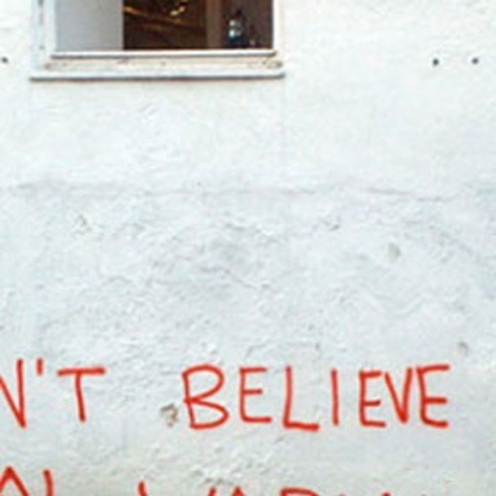 Wait, Banksy Doesn't Believe In Global Warming?