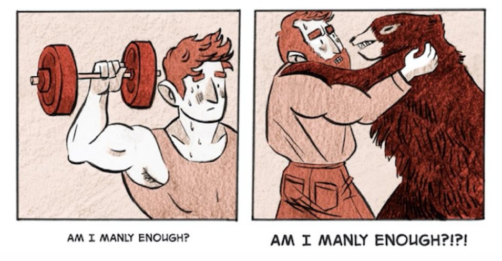 This trans artist turned his awkward moments into a painfully honest web comic.
