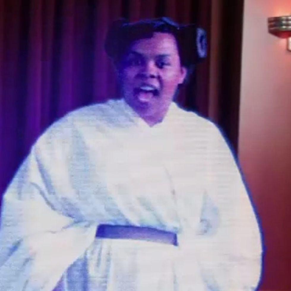 Black Holographic Rapping Princess Leia!