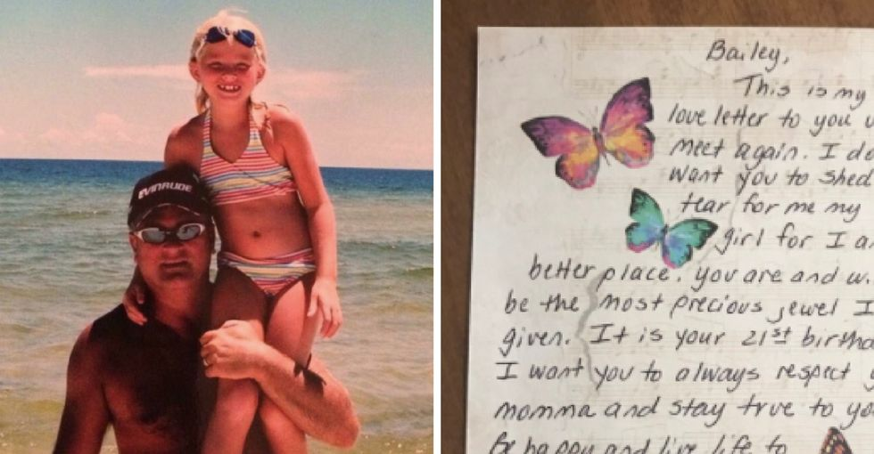 People are tearing up over this powerful letter a dying dad sent his daughter.