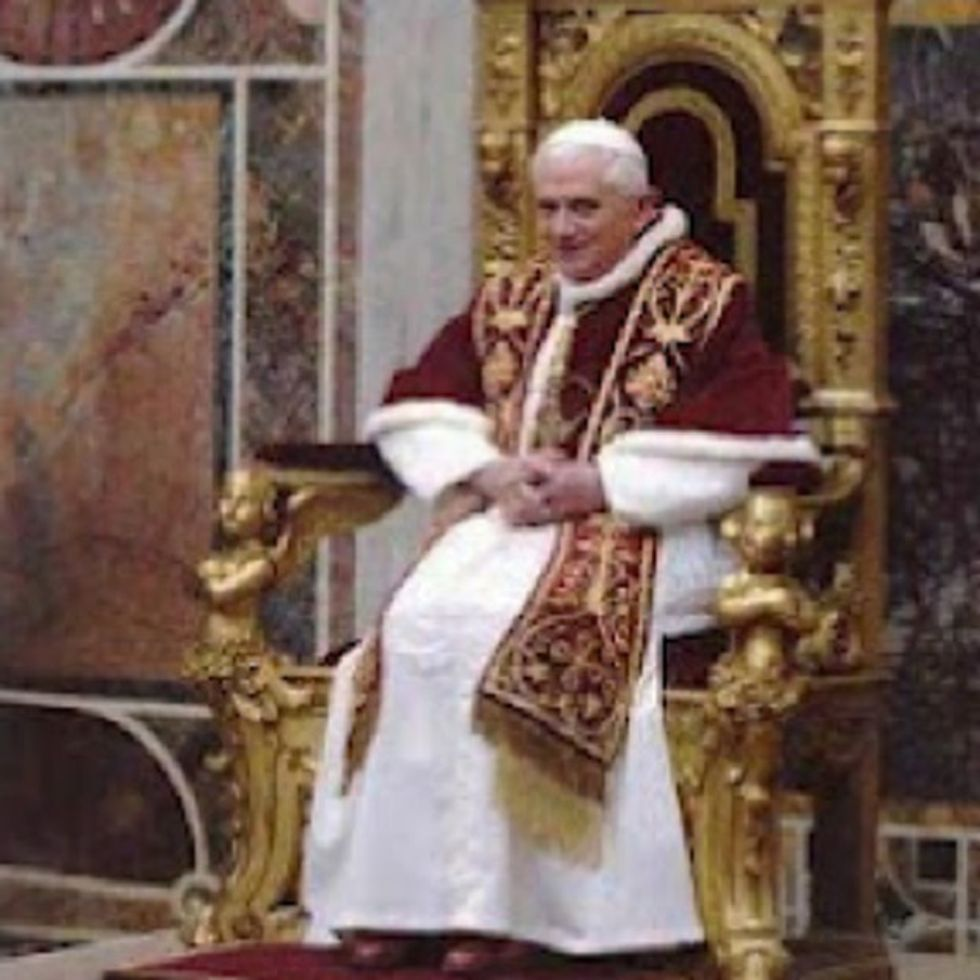 SAD NEWS: The Pope Is Clearly Illiterate And Has Gone Blind