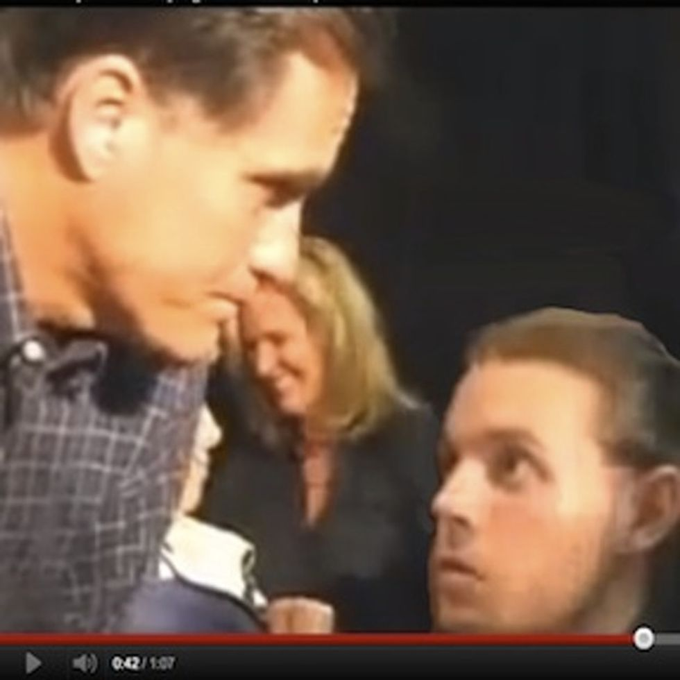 Watching Romney Ignore This Dying Man's Plea Is Really Upsetting