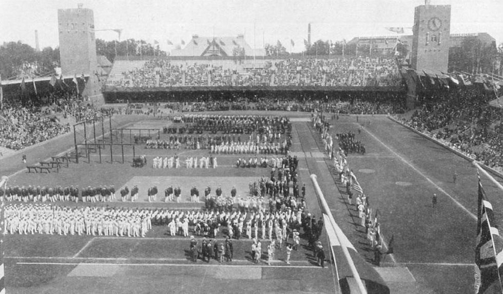 Post-war, the Olympic rings got new meaning. And it's probably not what you've been told.