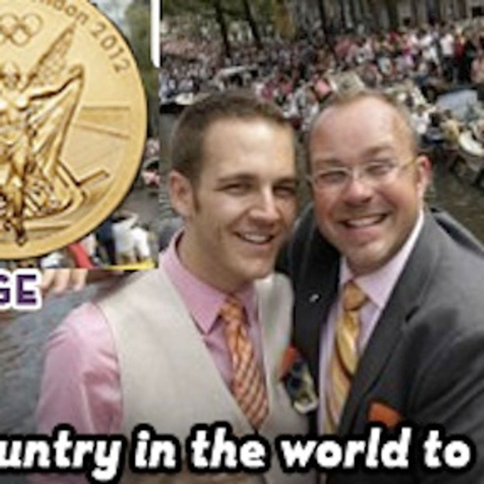 Get Up On The Podium, You've Just Won A Gold Medal In Gay Marriage