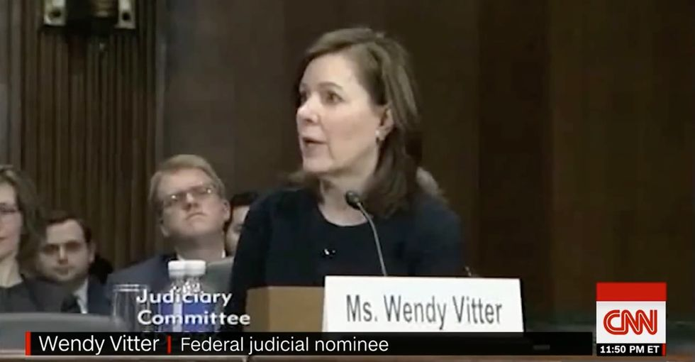 Trump judicial nominee Wendy Vitter won't say if segregated schools are bad.