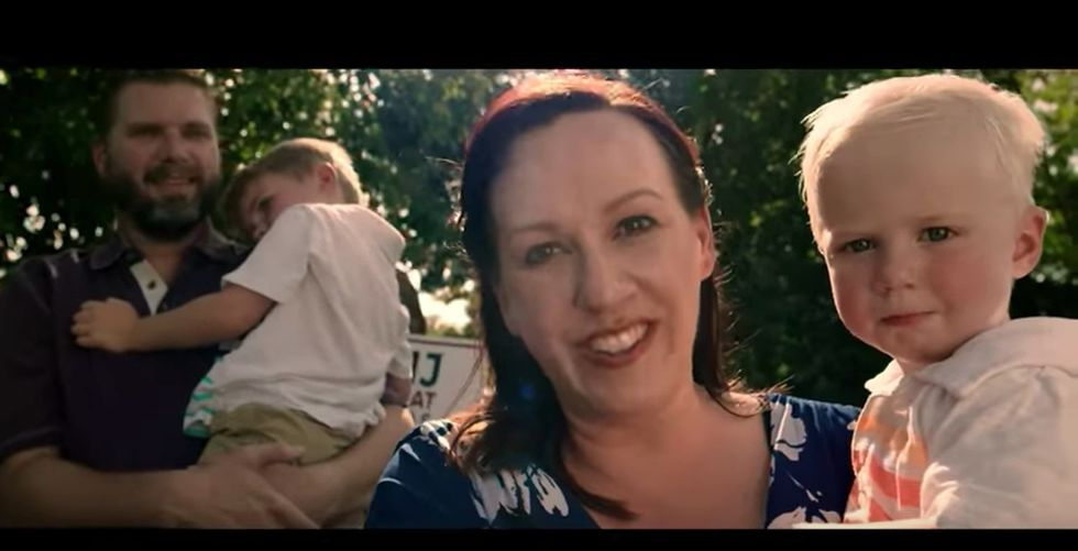 Watch this Texas mom's inspiring, viral campaign video. She's making history — again.