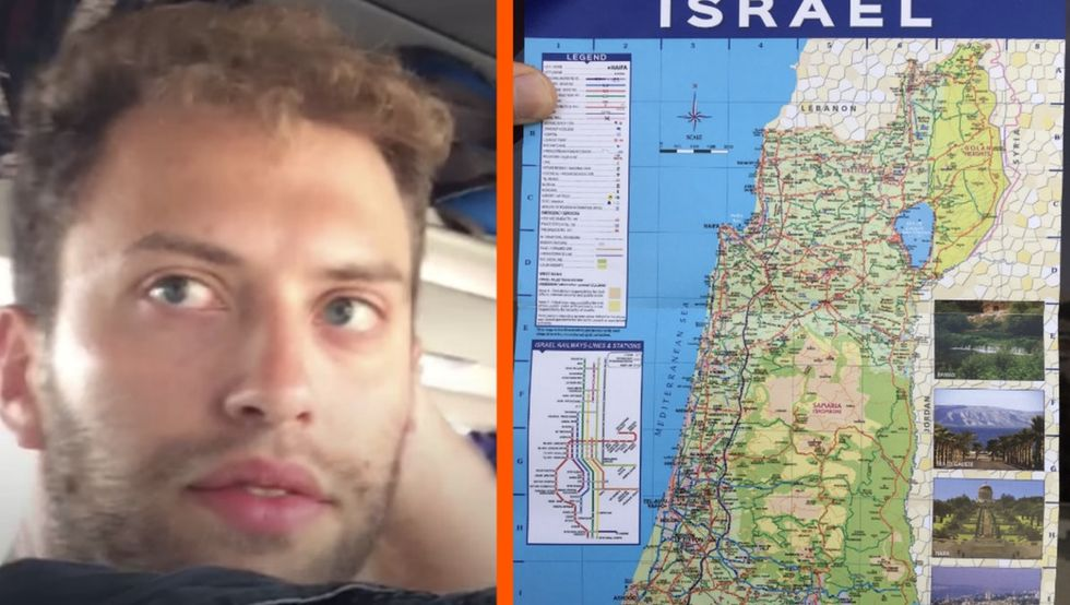 He ditched a tour of Israel after spotting a very flawed map. The story went viral.