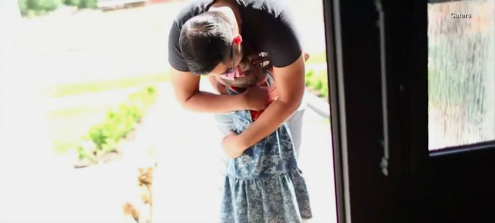 This 7-year-old met her bone marrow donor. It's much more than a feel-good moment.