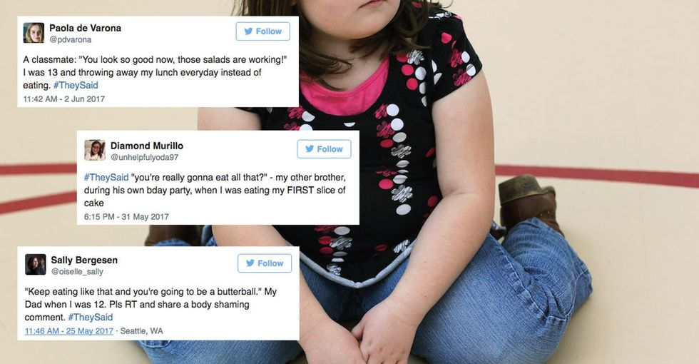 A viral and heartbreaking hashtag proves body-shaming starts early for women.