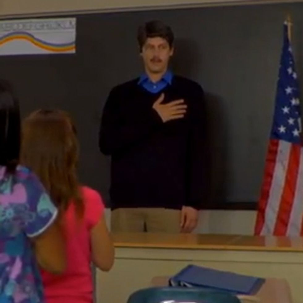 Who Knew Kids Saying The Pledge Of Allegiance Could Sound So Creepy?