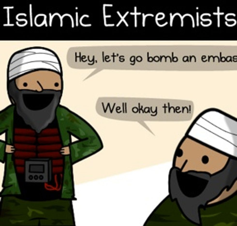 Atheists Are Like Terrorists, Except Without The Bad Ideas Or The Mindless Violence Or The Terrorism