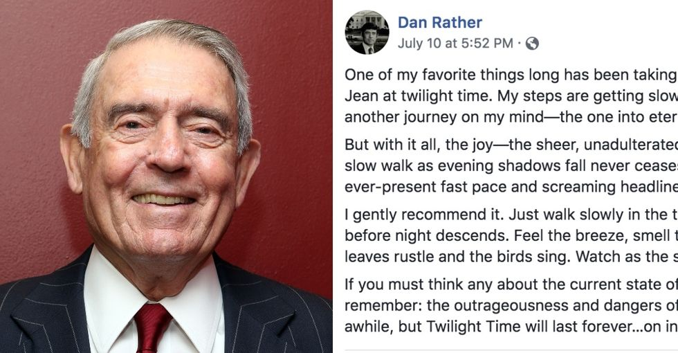 Dan Rather had some important advice for taking care of yourself.