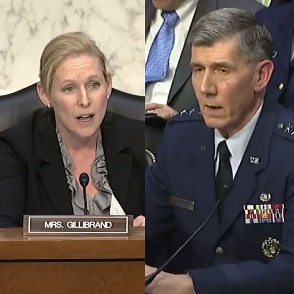 Watch An Awesome Feminist Senator Teach A U.S. General How To Do His Job