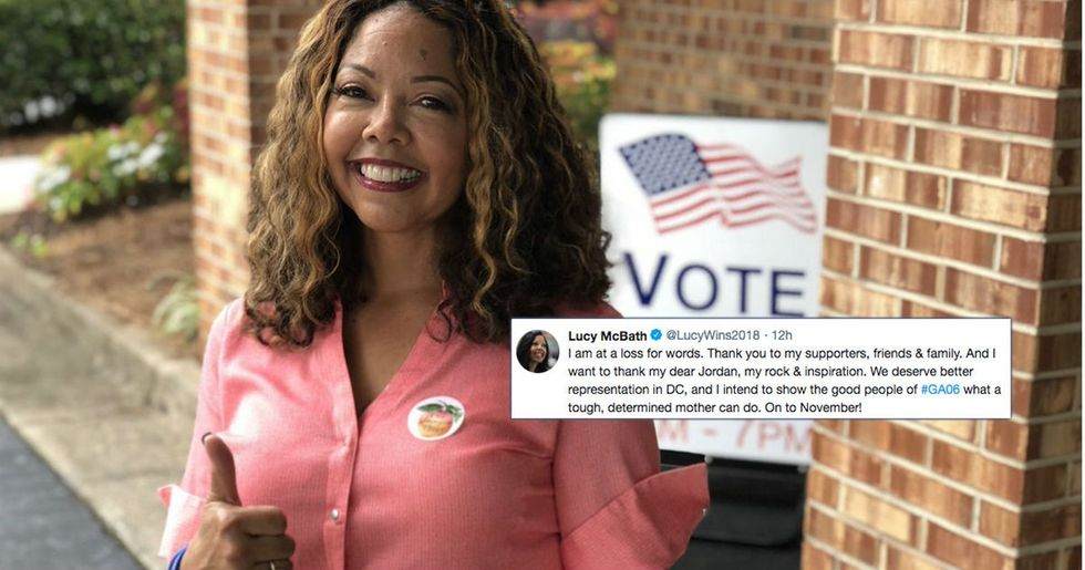 A mom who lost her son to gun violence has won a huge primary in Georgia.