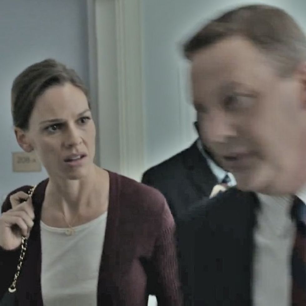 If You Watch Hilary Swank Annoy A Whiny Senator, You Will Be Helping Punch Malaria In The Face