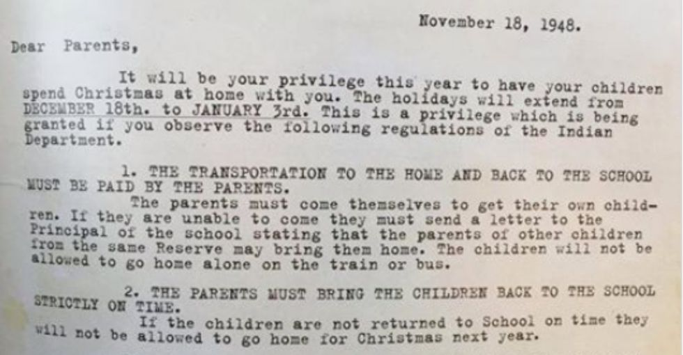This cruel Christmas letter from an Indian boarding school offers a vital history lesson.