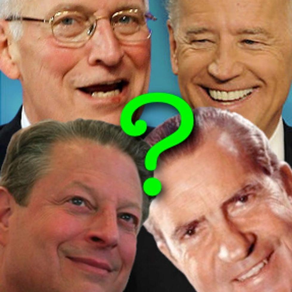 What Do Dick Cheney, Al Gore, Richard Nixon, And Joe Biden Have In Common?