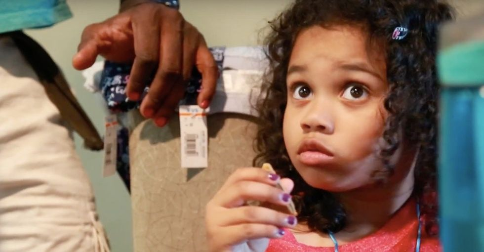 A dad gives his daughter a challenge. She accepts it. Now his nails are fabulous.