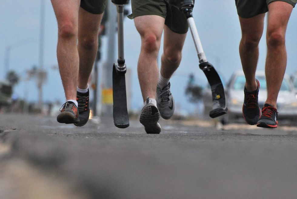 He lost his legs in action. Now he's achieving big goals to change the stigma around vets.