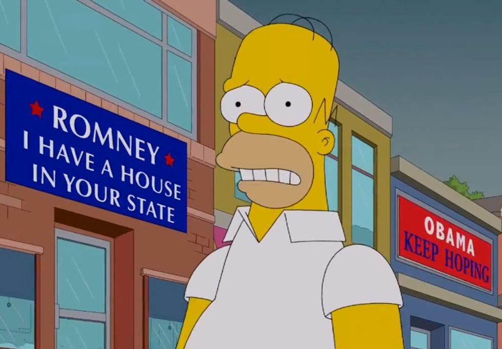 Why Is Homer Simpson Voting For Mitt Romney!?