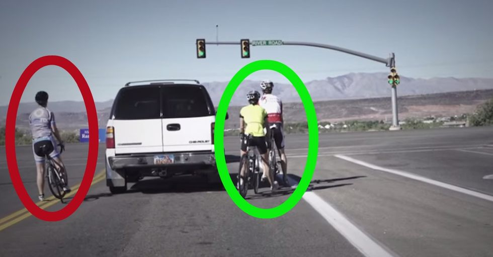 The people you see riding a bike on the side of the road would like you to know something.
