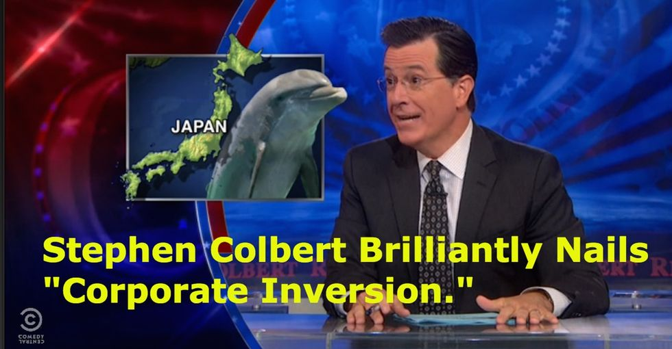Stephen Colbert Brilliantly Nails 'Corporate Inversion'