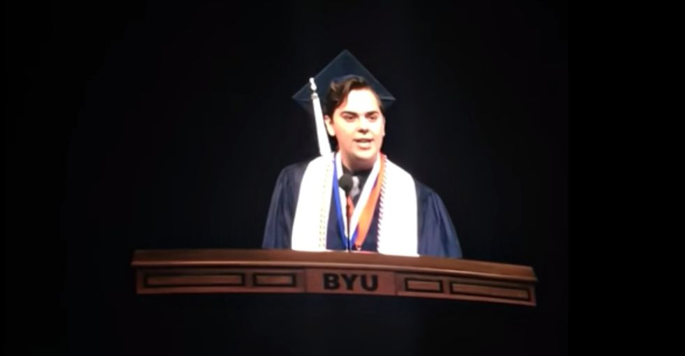 This Mormon valedictorian came out to 10,000 people in a stirring graduation speech.