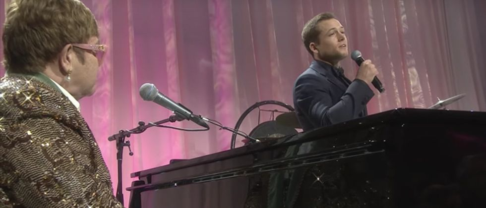 This surprise Elton John duet with the actor playing him in a new movie is breathtaking.
