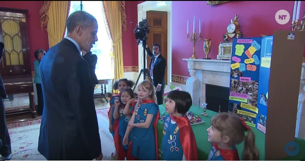 6 awesome moments from Barack Obama's conversation with these Girl Scout scientists.