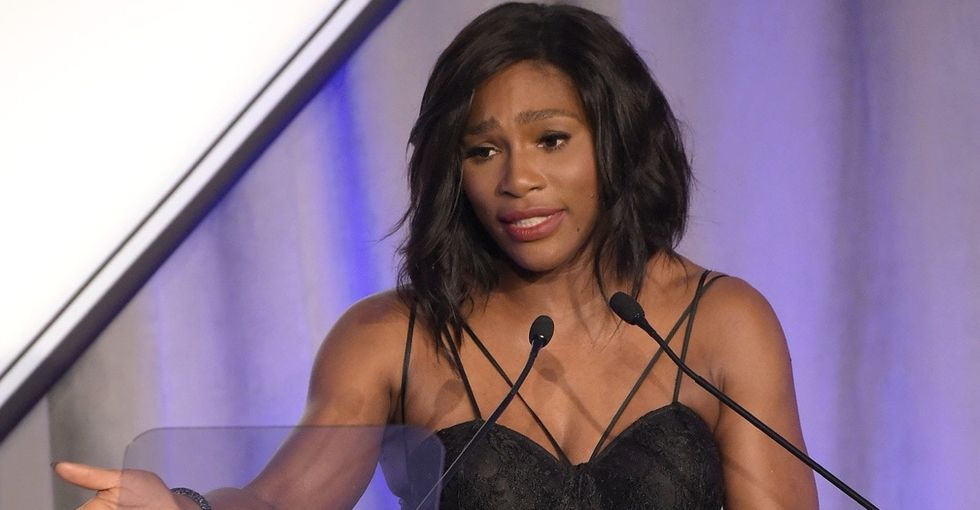 Serena Williams gives an inspiring speech, remains the greatest ever.