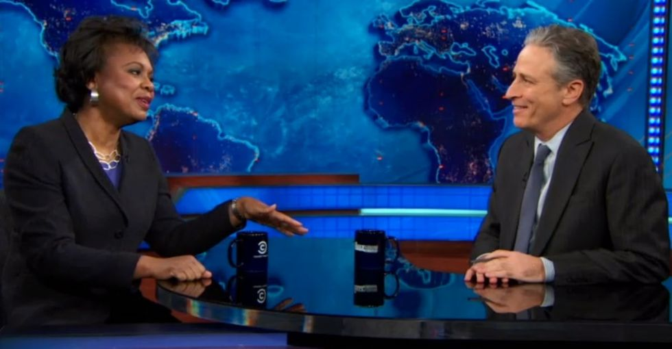 Congress Silenced Her, So Jon Stewart Let Her Have The Floor For As Long As She Wanted