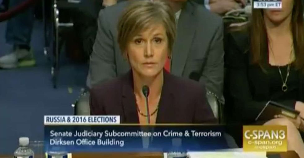 Sally Yates finally explained why she refused to defend the Muslim ban.