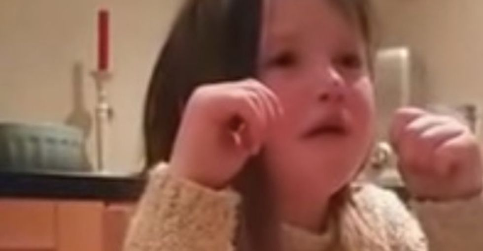 A 5-year-old girl fights back tears and explains exactly why she doesn't want to eat animals.